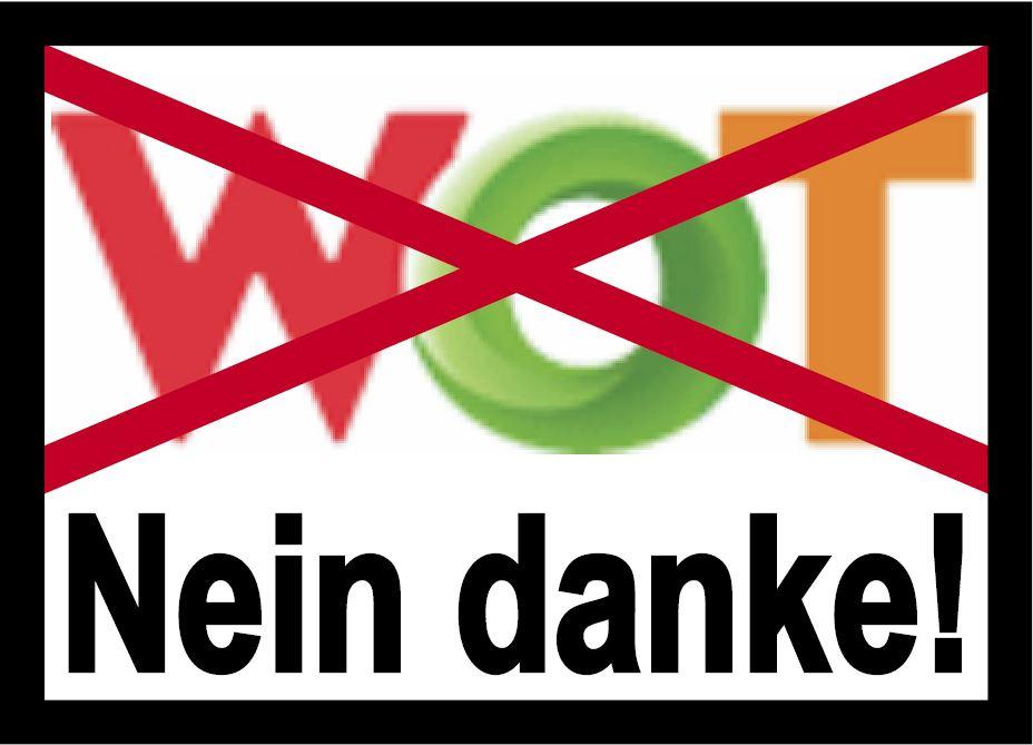 """Banner """"WOT - Nein Danke!"""""""