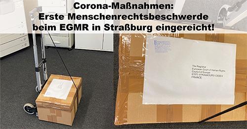 Corona: Erste Menschenrechtsbeschwerde beim EGMR in Straßburg