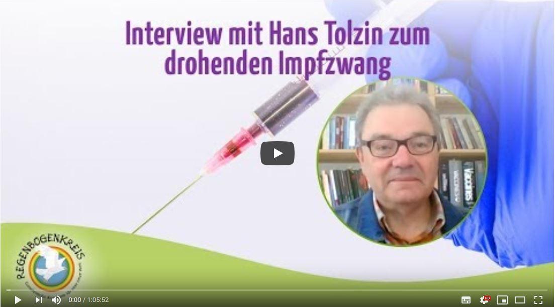 Hans U. P. Tolzin im Interview über die drohende Impfpflicht